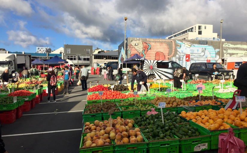 Victoria Street Market in Wellington, New Zealand